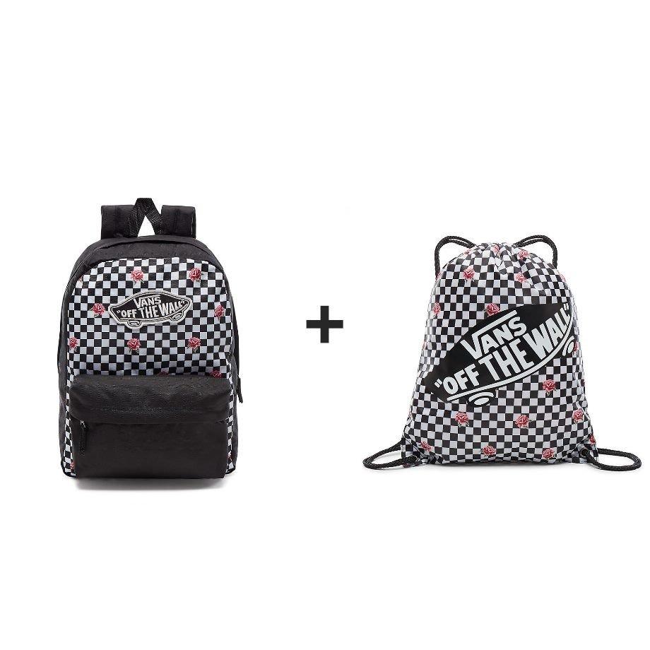 866f8628e3 VANS Realm Backpack Rose Checker Zaino - VN0A3UI6YFK 447 - Basketo.pl