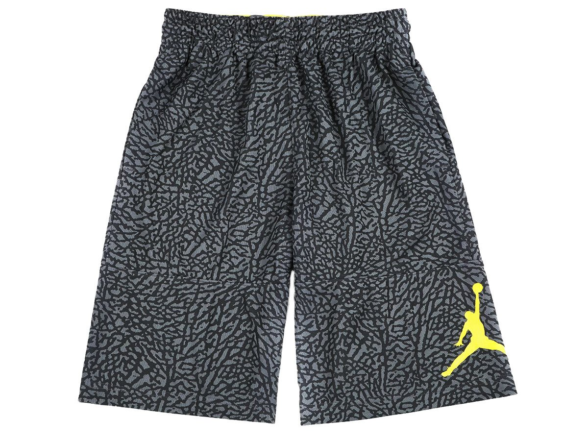 d1f53bfeb2e648 Air Jordan Elephant Print Blockout Shorts - 831372-022 Dark Grey ...