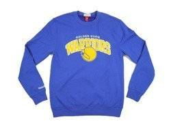 Mitchell & Ness Golden State Warriors NBA Team Arch Crew Sweatshirt - MN-NBA-TMARCHCREW-GOLWAR