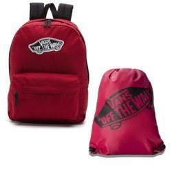 Vans Realm Biking Red Backpack - VN0A3UI61OA + Bag