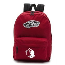 Vans Realm Biking Red Backpack - VN0A3UI61OA - Custom Yin Yang Cats