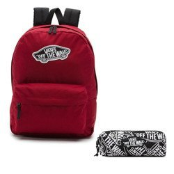 Vans Realm Biking Red Backpack - VN0A3UI61OA + Pancil Pouch