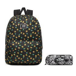 Vans Realm Classic Polka Ditsy Backpack - VN0A3UI7VCY + Pencil Pouch