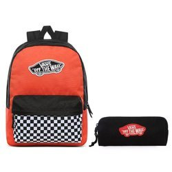 Vans Realm Paprika-Checkerboard Backpack - VN0A3UI6ZKF + Pencil Pouch