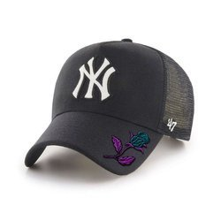 47 Brand New York Yankees Trucker Cap Custom Rose - B-CHLMM17WBP-BK
