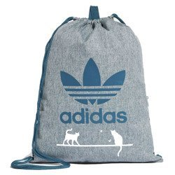 Adidas Originals Trefoil Gym sack Sports Bag Custom Cats White - CE2386