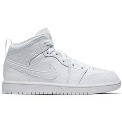 Air Jordan 1 Mid (PS) Kids Triple White - 640734-130