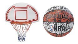Basketball Backboard MASTER 90 x 60 cm + Spalding Basketball