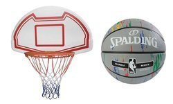 Basketball Backboard MASTER 90 x 60 cm + Spalding NBA Marble Series