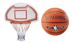 Basketball Backboard MASTER 90 x 60 cm + Spalding NBA Silver Ball