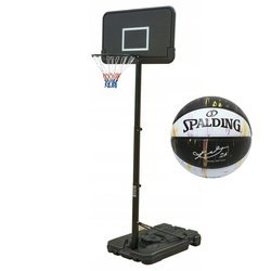 Basketball set Black 305 cm + Spalding Kobe Bryant 24 Marble Ball
