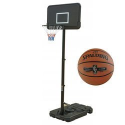 Basketball set Black 305 cm + Spalding NBA Platinum Streetball