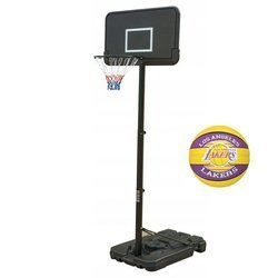 Basketball set Black 305 cm + Spalding Team LAL Basketball