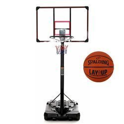 Basketball set DELUX 305 cm + Spalding LAYUP outdoor