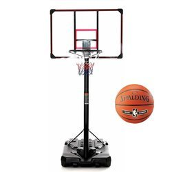 Basketball set DELUX 305 cm + Spalding NBA Silver Basketball