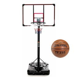 Basketball set DELUX 305 cm + Spalding TF-250 Basketball