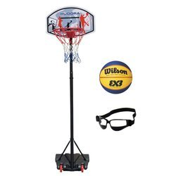 Basketball set Hudora All Stars + Wilson Replica RBR + Dribble Specs