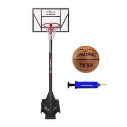 Basketball set Hudora Competition Pro + Spalding TF-50 + Pump