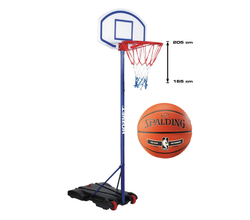 Basketball set Hudora Hornet 205 + Spalding NBA Silver Outdoor
