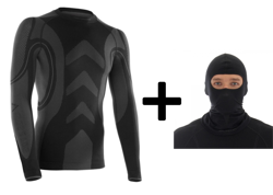 Compression Longsleeves Shirt Brubeck Webster Function unisex + cap balaclava