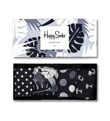 Giftbox 4-pak Happy Socks Black & White - XBLW09-9002