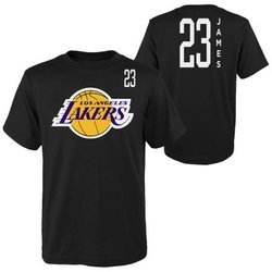 Koszulka NBA Tall SS Tee Los Angeles Lakers Lebron James