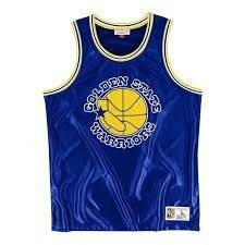Mitchell & Ness Golden State Warriors Dazzle Tank Top - MSTKDF18015-GSWROYA1
