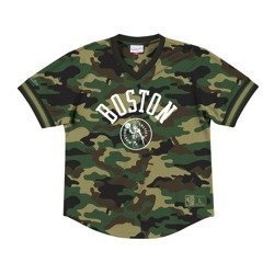 Mitchell & Ness NBA Boston Celtics Camo Mesh V-Neck T-Shirt