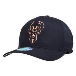 Mitchell & Ness NBA Milwaukee Bucks Black/Orange 110 Snapback
