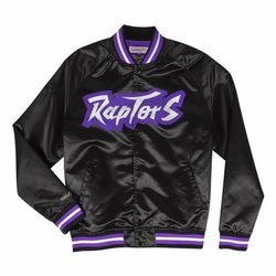 Mitchell & Ness NBA Toronto Raptors Lightweight Satin Jacket - STJKMG18013-TRABLCK1