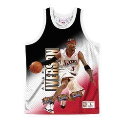 Mitchell & Ness NBA behind The Back Tank Philadelphia 76ers - Allen Iverson - MSTKMI19002-P76WHITAIV