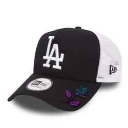 New Era MLB Los Angeles Dodgers Clean A Frame Trucker Cap Custom Rose - 11405498