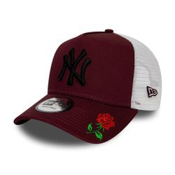 New Era MLB New York Yankees A Frame Trucker Cap Custom Rose - 12285468