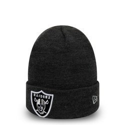 New Era Oakland Raiders Essential Heather Grey Cuff Knit - 12134979