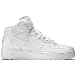 Nike Air Force 1 Mid All White Shoes - 315123-111