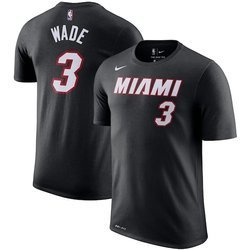 Nike Icon Name & Number Miami Heat Dwayne Wade T-shirt Youth- EZ2B711F1-HEAWW