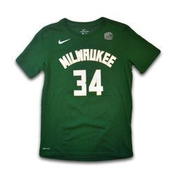 Nike NBA Icon Name & Number SS Tee Bucks Antetokounmpo Giannis Youth - EZ2B711F1-BCKGA