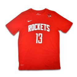 Nike NBA Icon Name & Numder SS Tee Rockets Harden Youth - EZ2B711F1-RCKJH