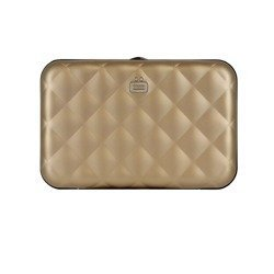 Ogon Designs Wallet Quilted Button Rose Gold RFID protect