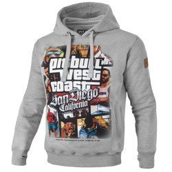 Pit Bull West Coast Most Wanted Hooded Grey