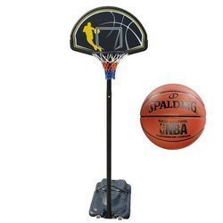 Portable Basketball stand MASTER Street 305 + Spalding NBA Grip Control