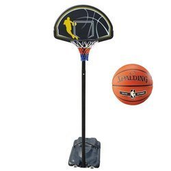 Portable Basketball stand MASTER Street 305 +  Spalding NBA Silver