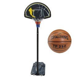 Portable Basketball stand MASTER Street 305 + Spalding TF-250