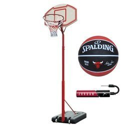 Portable basketball stand MASTER Attack 260 + Spalding Ball + pump