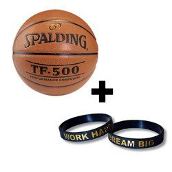 Spalding Basketball NBA TF - 500 + Work Hard Dream Big silicone bracelet wristband