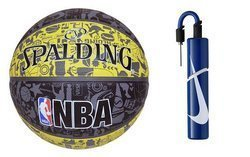 Spalding Graffiti Rubber Outdoor Basketball + pump Nike