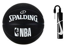 Spalding NBA Basketball Black + pump Nike Essential