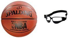 Spalding NBA Grip Control Basketball Indoor/Outdoor - 3001550010717 + Dribble Specs No Look Basketball Eye Glass Goggles