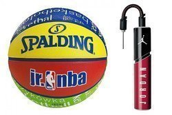 Spalding NBA Junior Basketball  + Air Jordan Essential Ball Pump