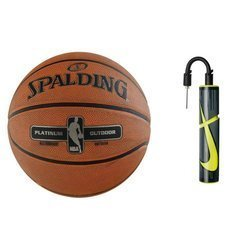 Spalding NBA Platinium Streetball Outdoor Basketball + Ball Pump